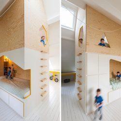 طراحی اتاق کودک با مبلمان چند منظوره