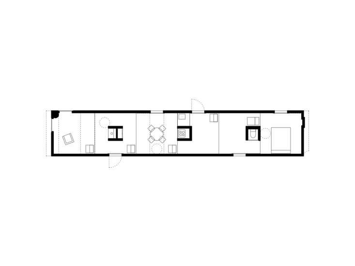 پلان خانه مسکونی با فضای پله ایی
