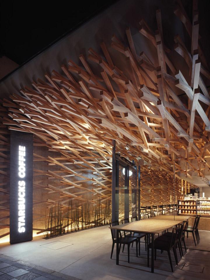 کافی شاپ با سازه چوبی