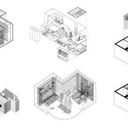 10 پلان آپارتمان زیر 38 متر به همراه پرسپکتیو داخلی