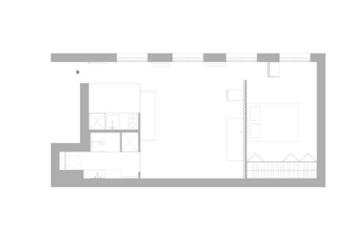 پلان آپارتمان زیر 38 متر