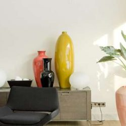 10 ایده تزئین دکوراسیون با گلدان و ظروف شیشه ایی