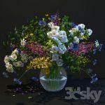 مجموعه آبجکت گل