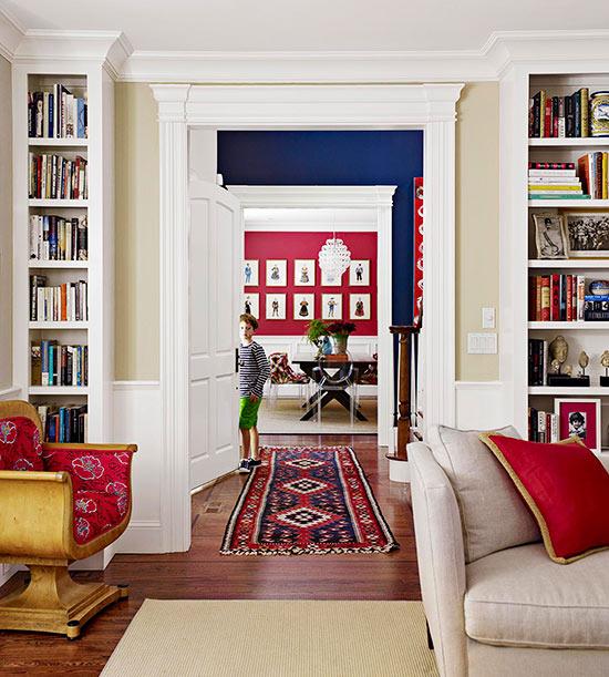 پیوند اتاق ها با رنگ