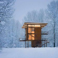 10 طراحی اقامتگاه زمستانی شگفت انگیز