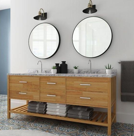 آینه های دوقلو برای روشویی های دوقلو