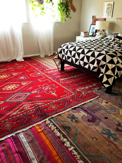 ترکیب فرش های مختلف با یک دیگر