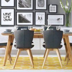 شیوه های تزئین دیوار اتاق غذا خوری