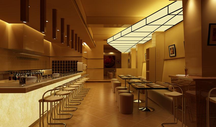 مدل سه بعدی رستوران