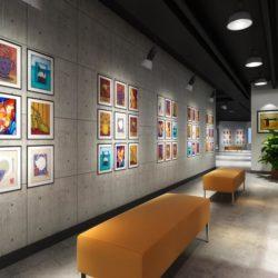صحنه آماده سه بعدی طراحی نمایشگاه و فضای اداری – Global Masterwork