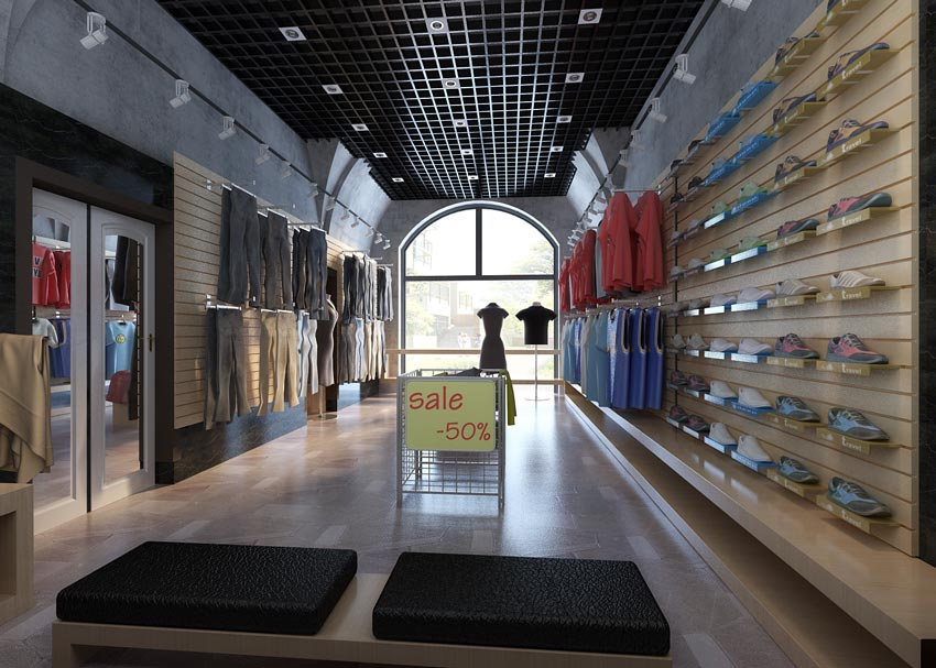 مدل سه بعدی فروشگاه لباس