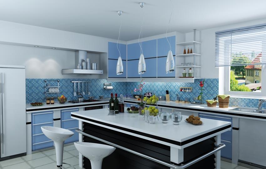 دانلود صحنه آماده آشپزخانه کلاسیک و مدرن