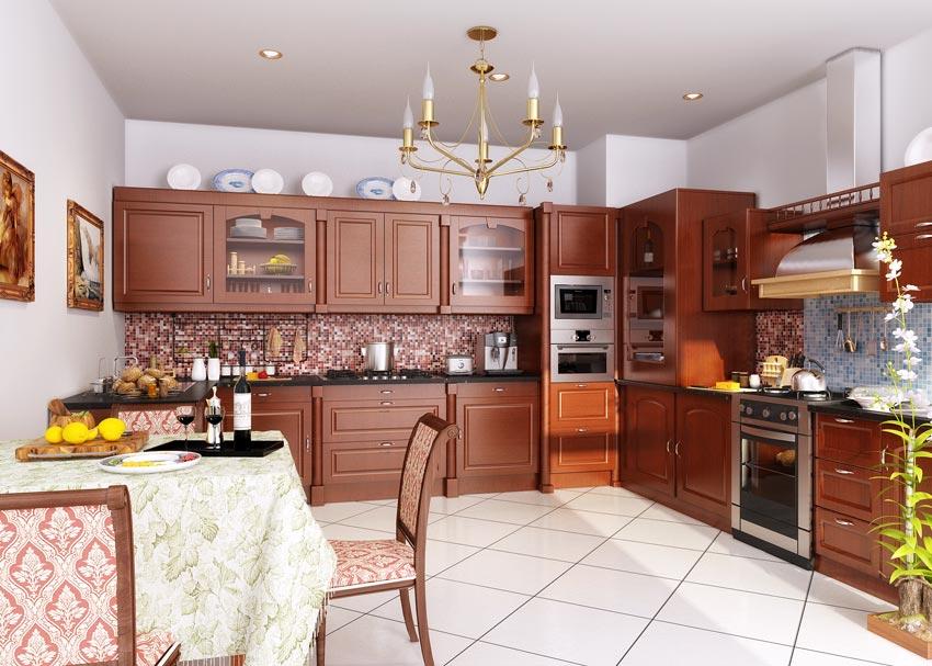 صحنه آماده آشپزخانه