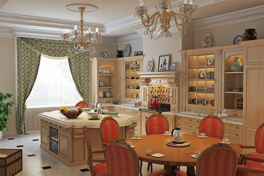 مدل سه بعدی آشپزخانه کلاسیک