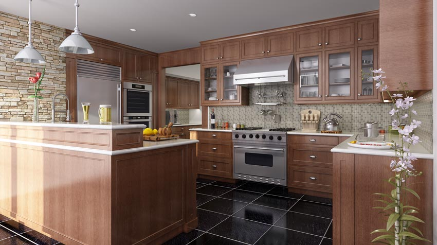صحنه آماده آشپزخانه کلاسیک