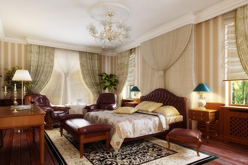 مدل سه بعدی اتاق خواب لوکس