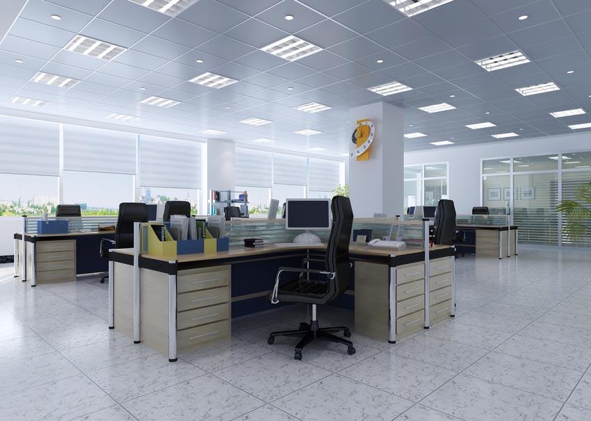 مدل سه بعدی اتاق اداری