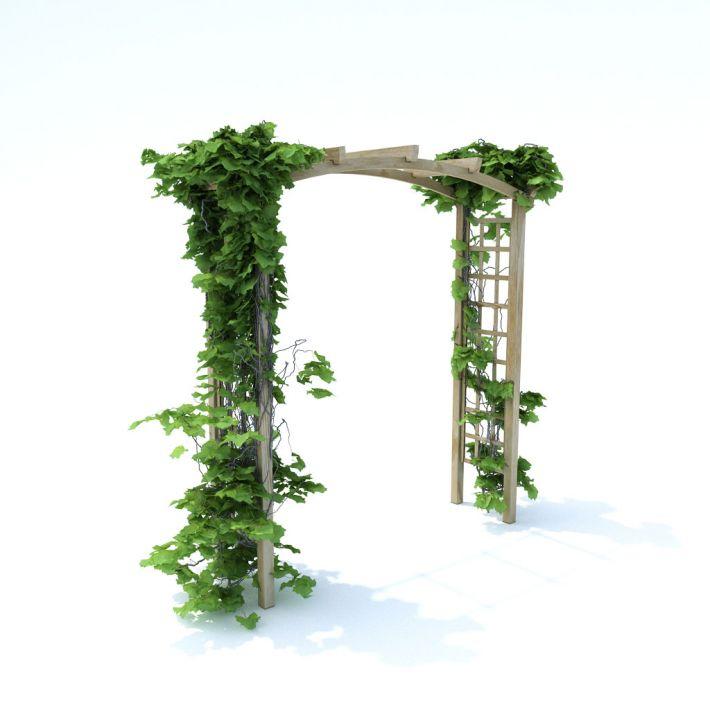 آبجکت دروازه تزیینی باغچه