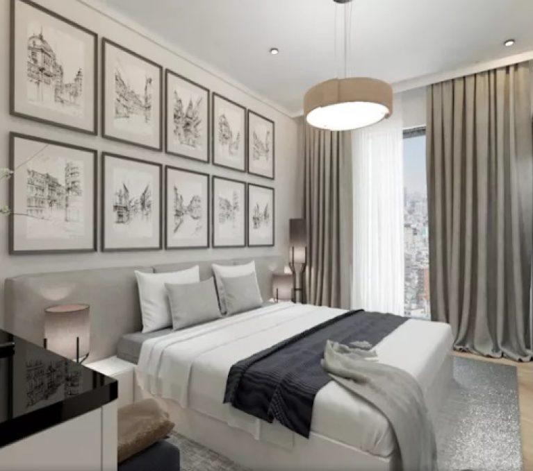 طراحی لوستر اتاق خواب