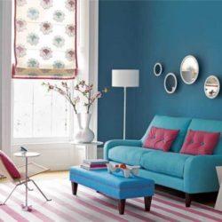 رنگ های هماهنگ با رنگ آبی در دکوراسیون داخلی