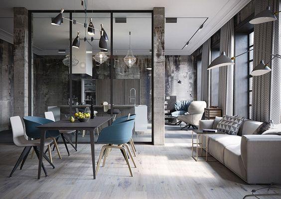 سبک صنعتی در طراحی داخلی