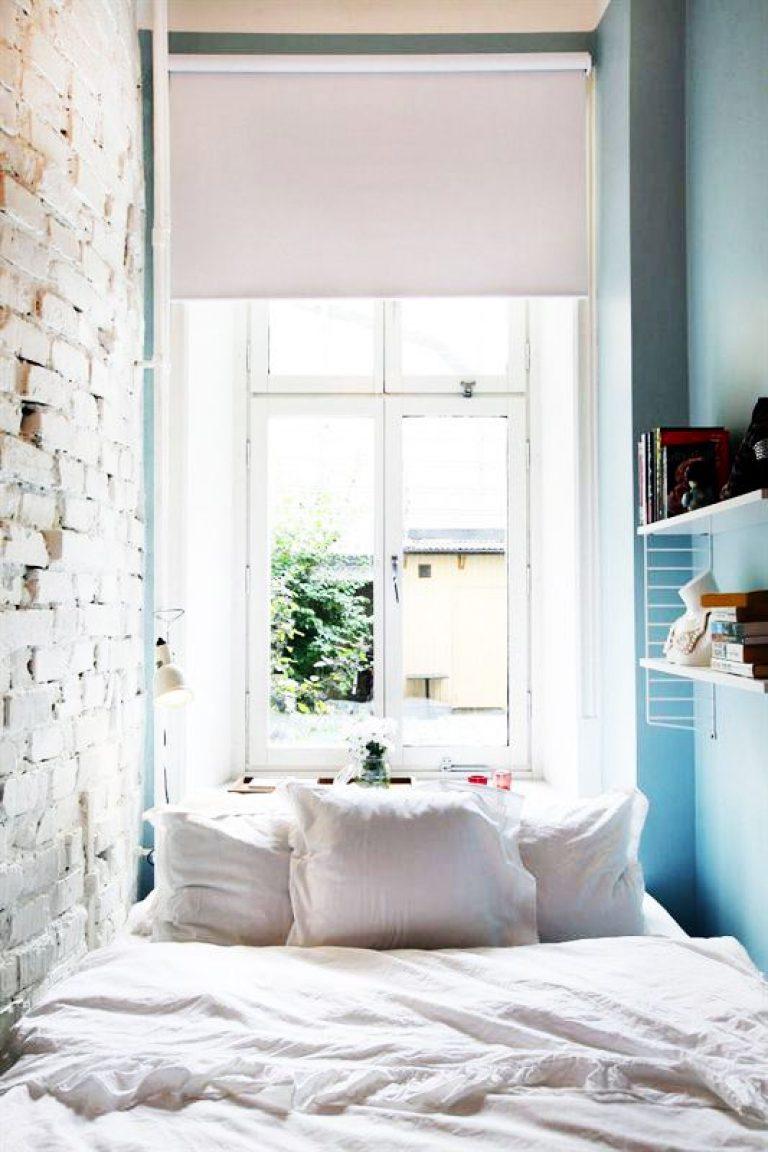 طراحی داخلی اتاق خواب کوچک و باریک