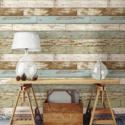 تزئین دیوار با پوشش چوبی