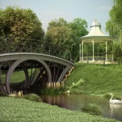 دانلود آرچ مدل 116 – آبجکت حصار و تزیینات باغچه