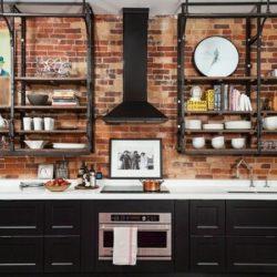 شیوه طراحی آشپزخانه به سبک صنعتی