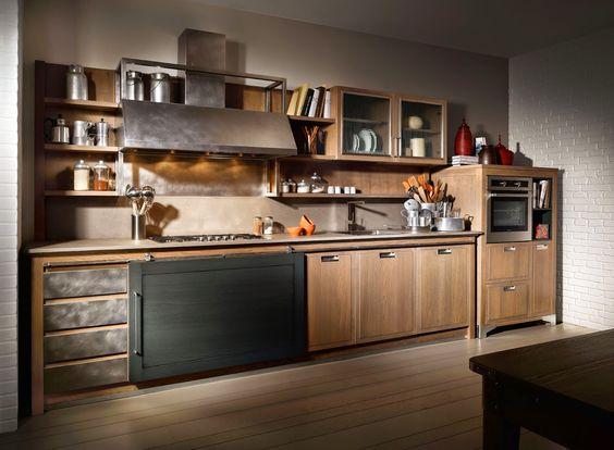 شیوه طراحی آشپزخانه صنعتی