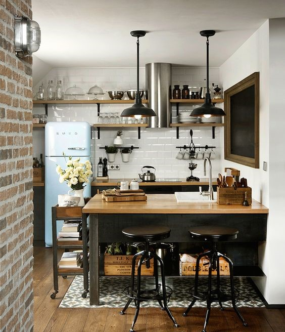 اصول طراحی آشپزخانه به سبک صنعتی
