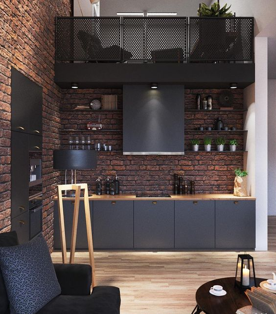 کابینت آشپزخانه سیاه رنگ