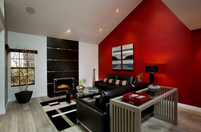 رنگ زرشکی در طراحی داخلی
