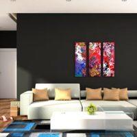 دیوار های تیره رنگ در طراحی داخلی