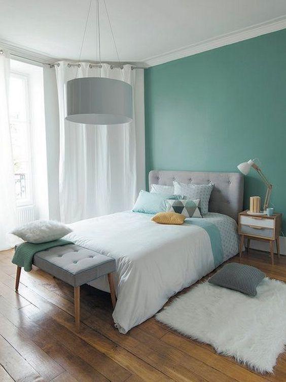 دکوراسیون اتاق خواب با تم سبز