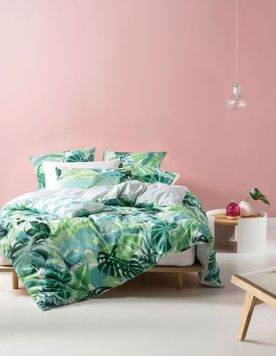 رنگ سبز در اتاق خواب