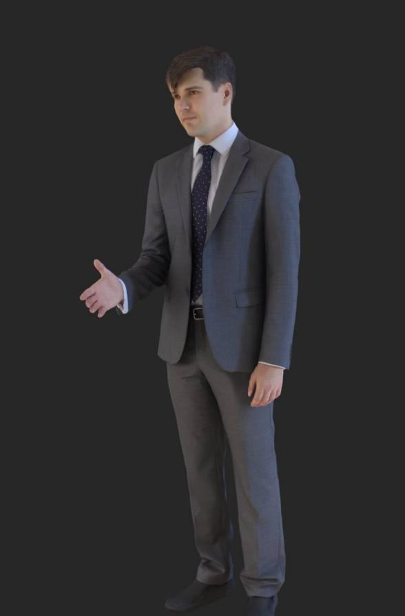 مدل سه بعدی انسان ژست گرفته