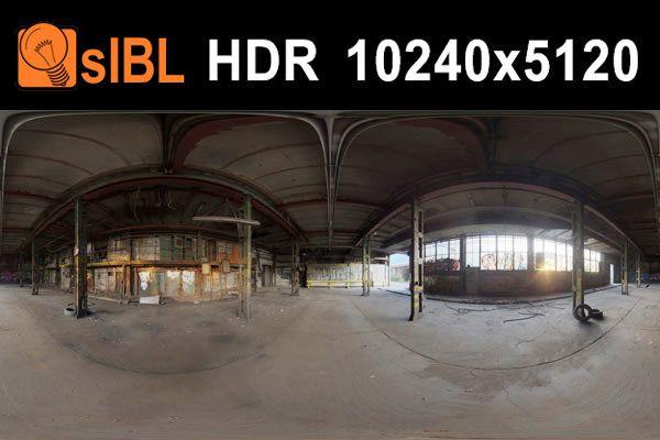 HDRI محیط پارکینگ و کارخانه