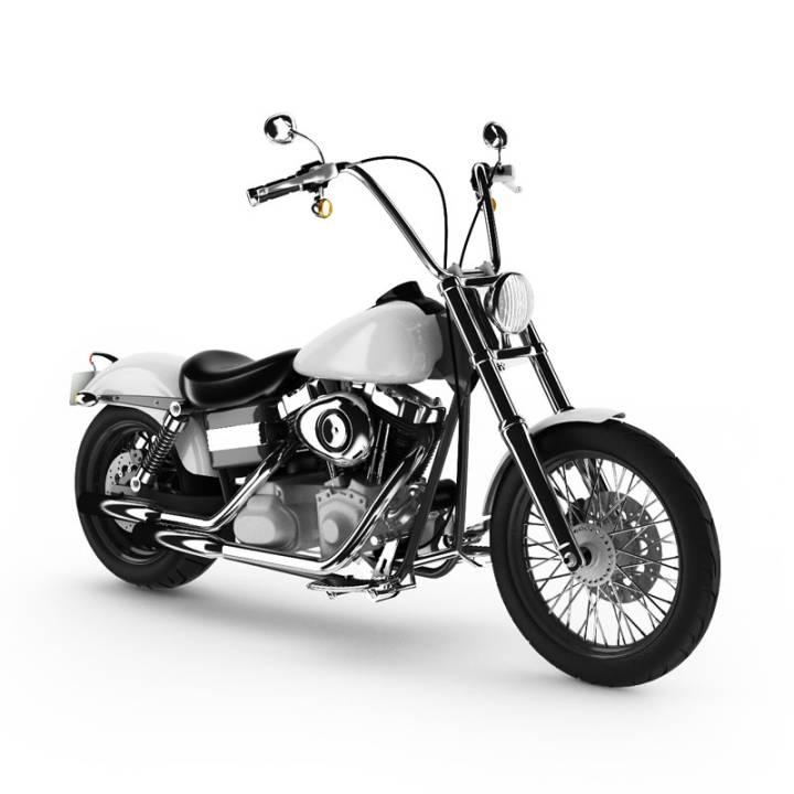 مدل سه بعدی موتورسیکلت