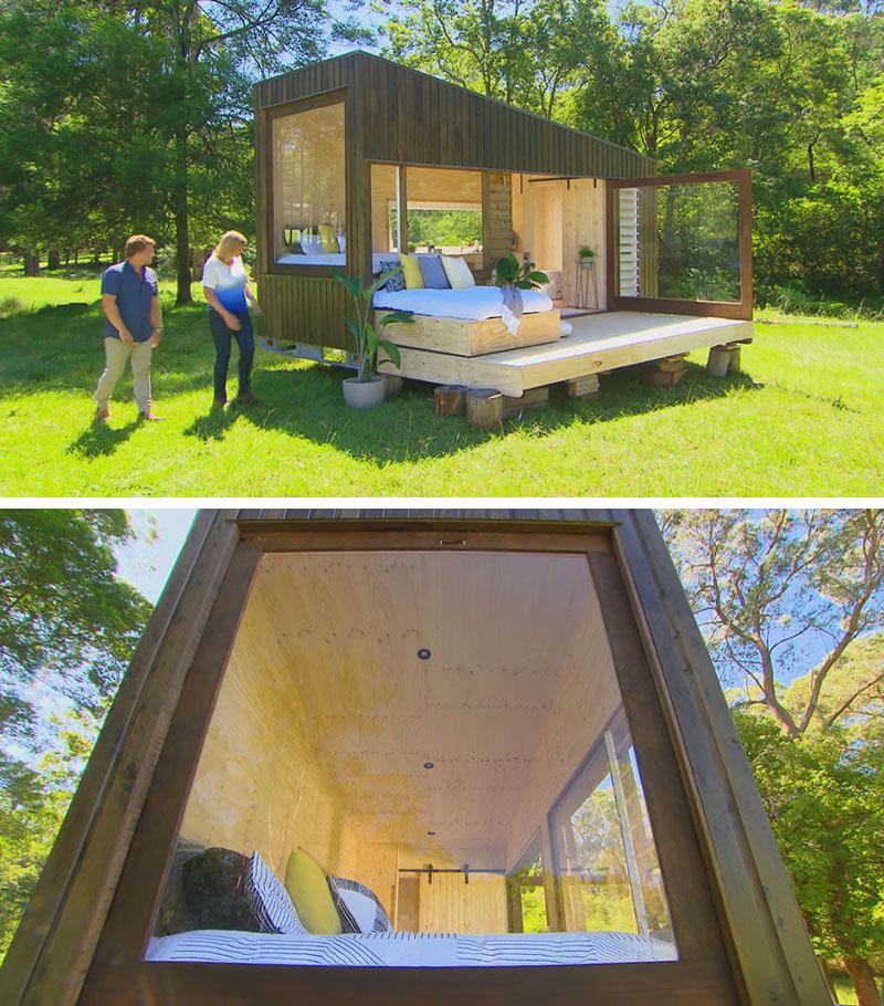 طراحی کانکس کوچک چوبی در محوطه خانه