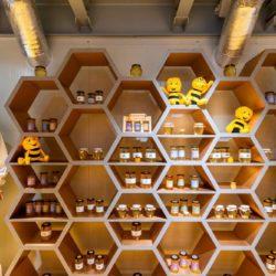 دکوراسیون و طراحی داخلی فروشگاه عسل