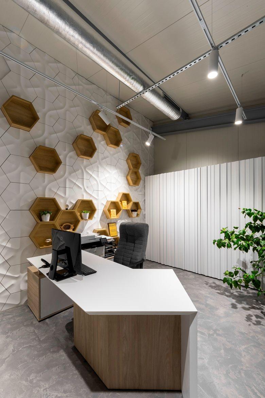 طراحی داخلی دفتر کار شرکت عسل فروشی