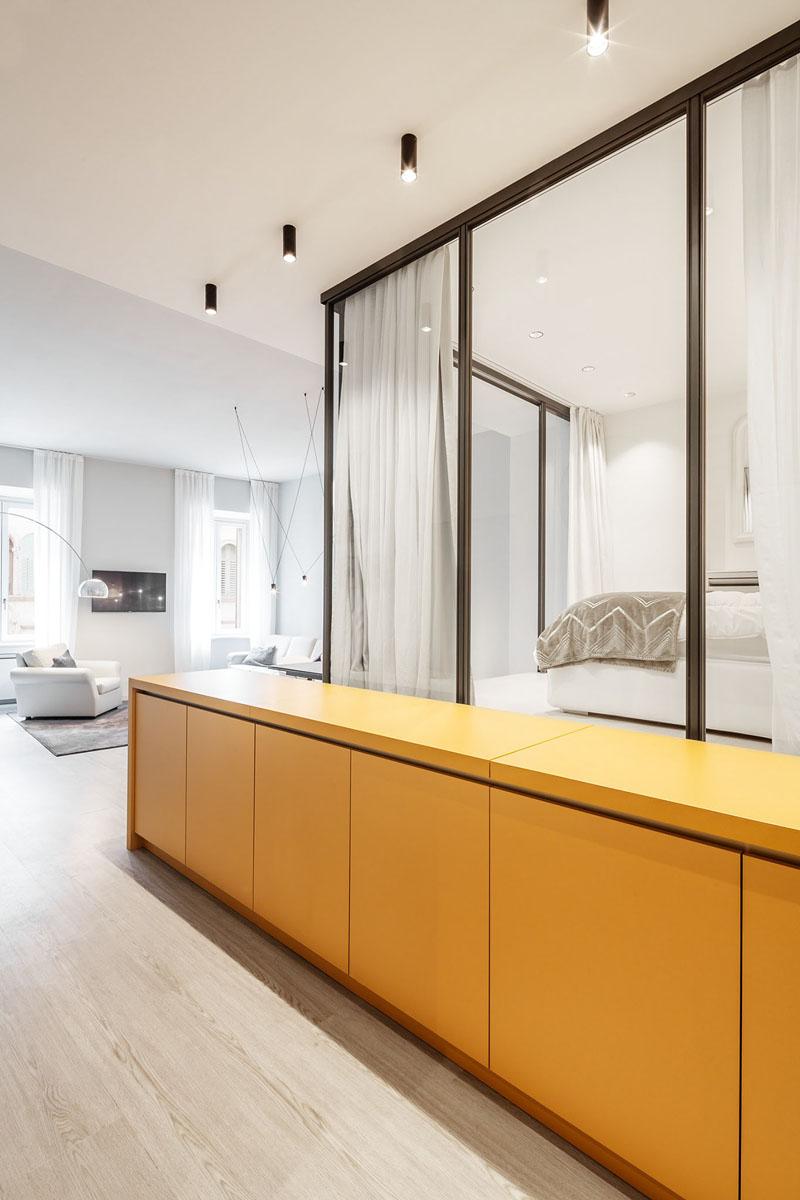 رنگ زرد در دکوراسیون آپارتمان کوچک