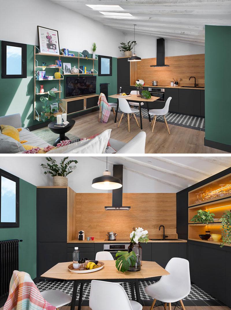 رنگ سبز و مشکی در دکوراسیون آپارتمان