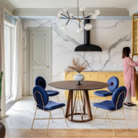 طراحی داخلی آپارتمان شهری با سبک هنری و شگفت انگیز