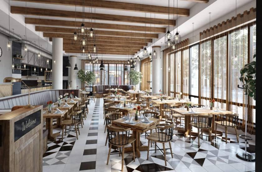 دانلود آرچ اینتریور 52 - صحنه آماده داخلی کافه و رستوران