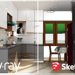 آموزش طراحی آشپزخانه در اسکچاپ
