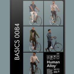 پرسوناژ انسان روی دوچرخه