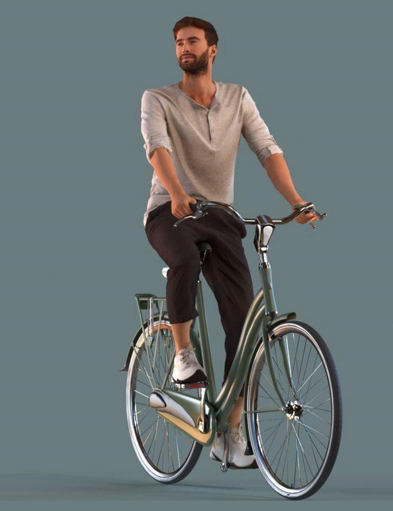 پرسوناژ انسان دوچرخه سوار
