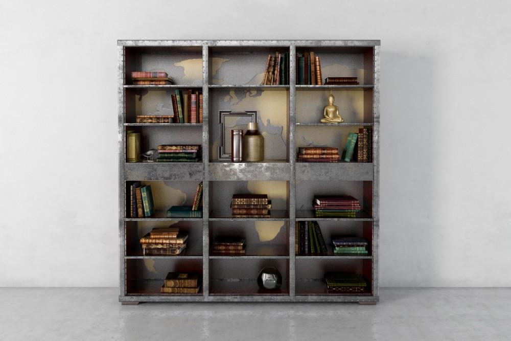 مدل سه بعدی کتابخانه